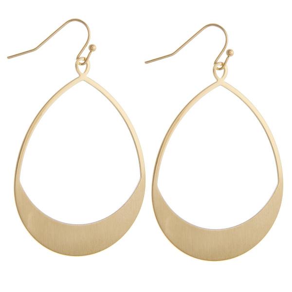 Wholesale gold metal teardrop earrings Measure diameter
