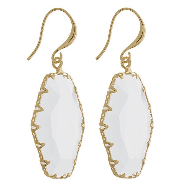 Wholesale long fishhook earring resin crystal Approximate