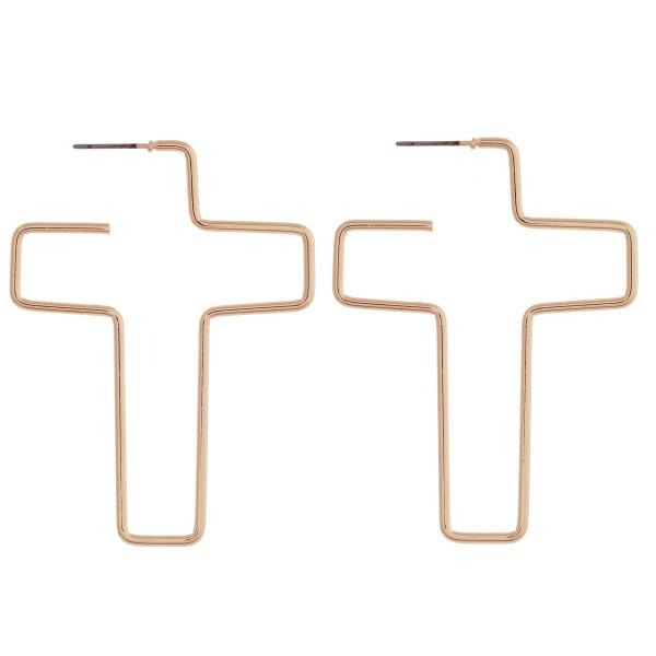 Wholesale long metal cross earrings