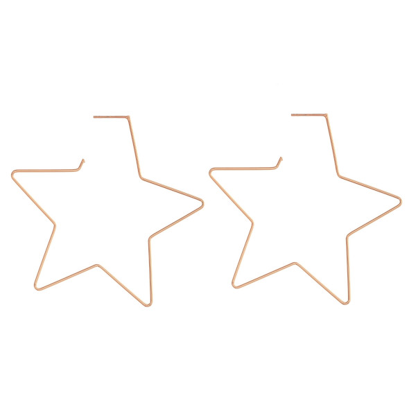 "Dainty star earrings featuring a stud post . Approximately 2.5"" in length."