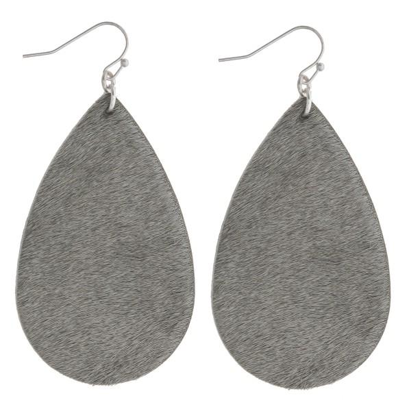 """Faux fur teardrop earrings. Approximately 2.5"""" in length."""