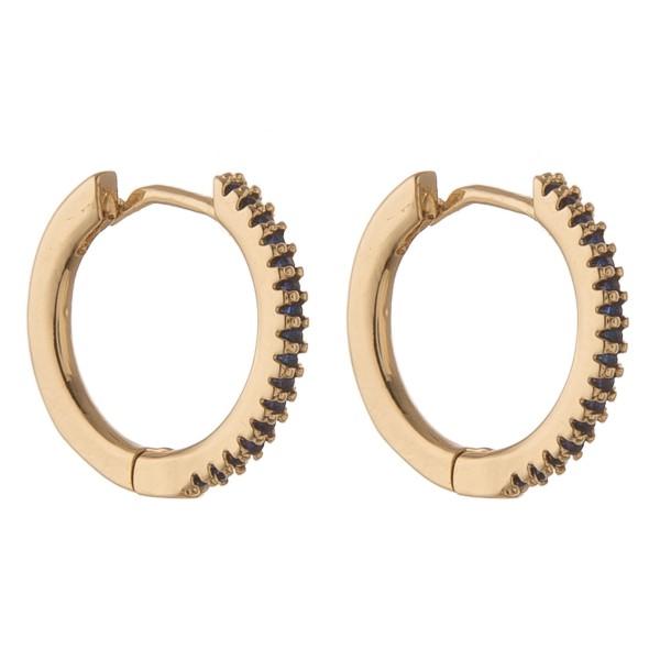 Wholesale cubic zirconia huggie hoop earrings Cubic Zirconia diameter