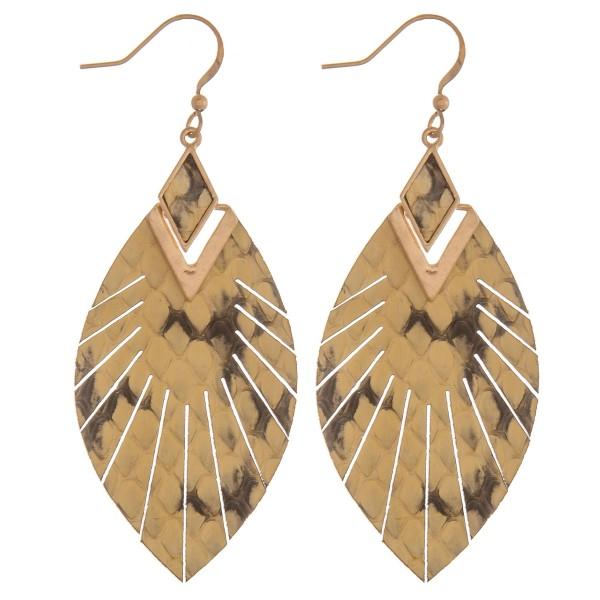 Wholesale genuine leather animal print feather bohemian earrings