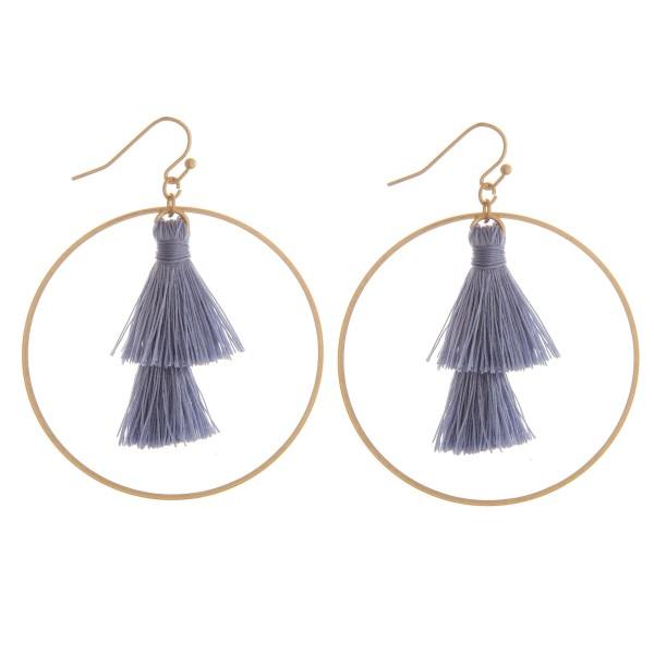 """Fan tassel nested earrings.  - Approximately 2.25"""" in diameter"""