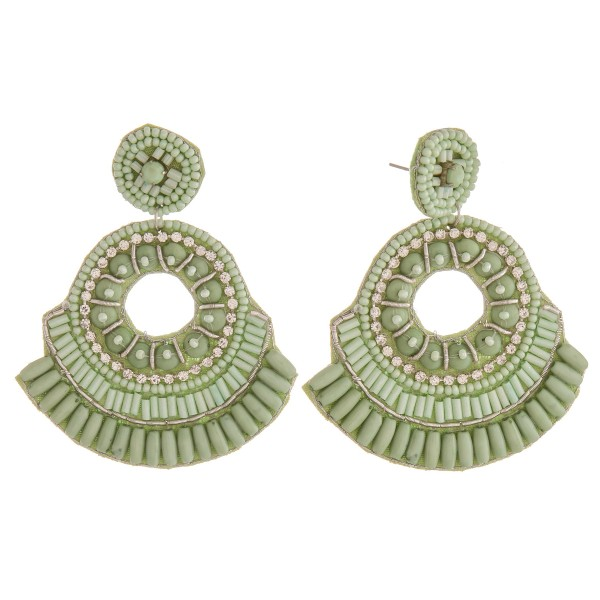 """Bubble beaded cut out statement earrings.  - Approximately 3"""" in length"""