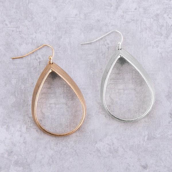 """Metal teardrop earrings.  - Approximately 2"""" L"""