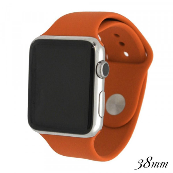 Wholesale solid burnt orange silicone watch band smart watches Fits mm smart wat