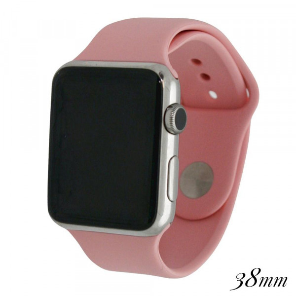 Wholesale solid light pink silicone watch band smart watches Fits mm smart watch