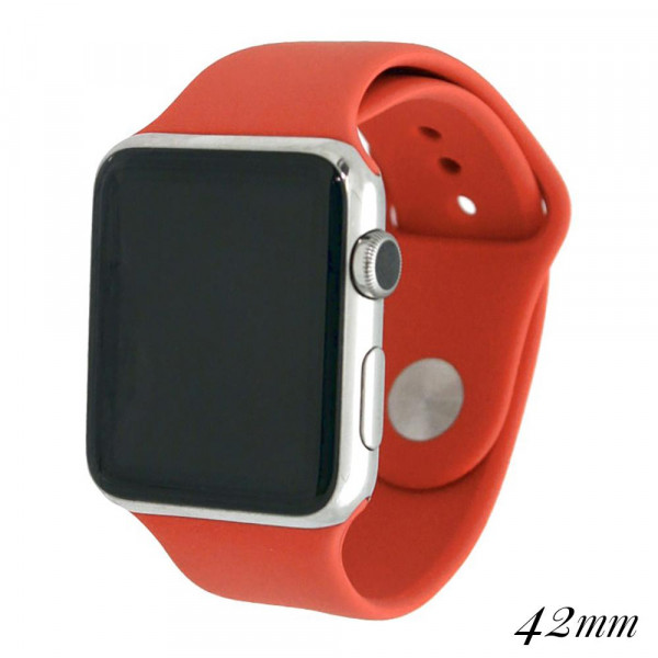 Wholesale solid coral silicone watch band smart watches Fits mm smart watch WATC