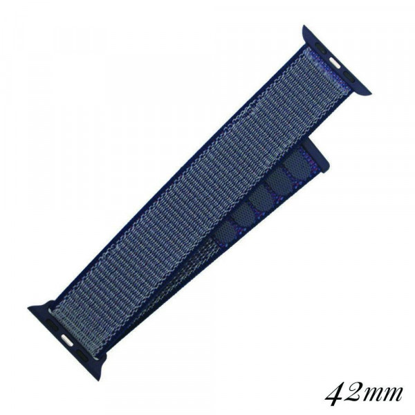 "Interchangeable velcro mesh sport band for smart watches. Approximately 9.75"" in length.  - 42mm - Adjustable velcro closure"