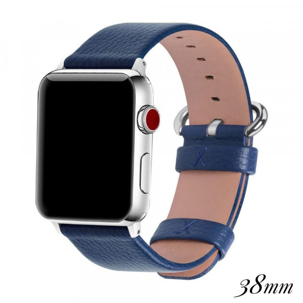 "Faux leather watch band for smart watches. WATCH NOT INCLUDED. Approximately 9.75"" in length.  -38mm - Adjustable closure"