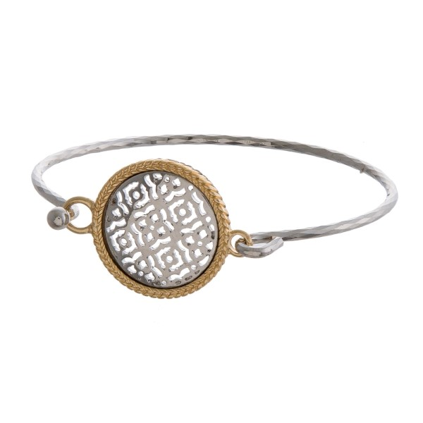 Wholesale gold bangle bracelet filigree circle