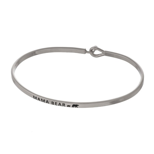 Wholesale metal bracelet stamped encouraging message