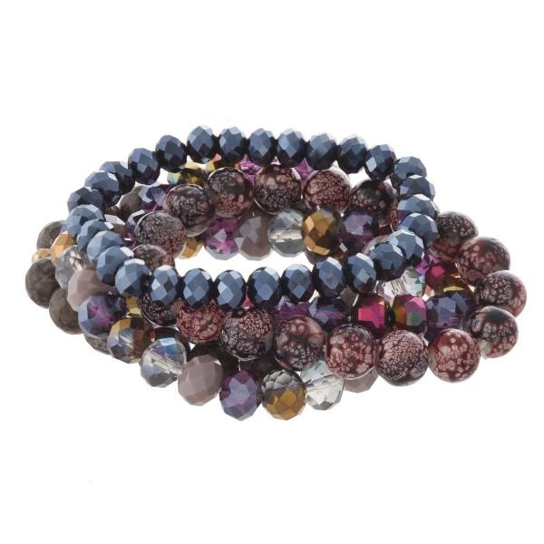 Faceted bead stretch bracelet.