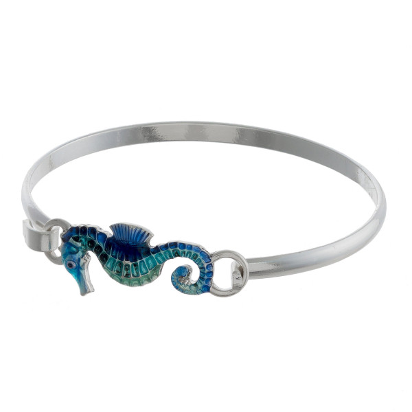 "Gorgeous metal bracelet with sea details. Approximate 2.5"" in diameter."