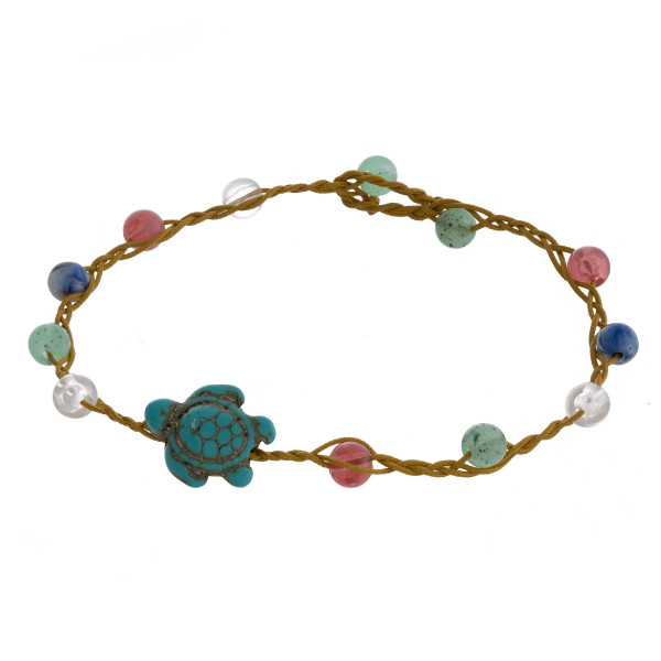 """Multi strand bracelet with beads and sea charms. Approximate 8"""" in length."""