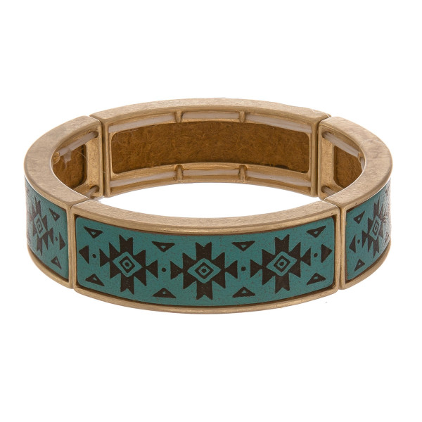 """Leather multi string bracelet with gold metal wrist details. Approximate 6"""" in length."""