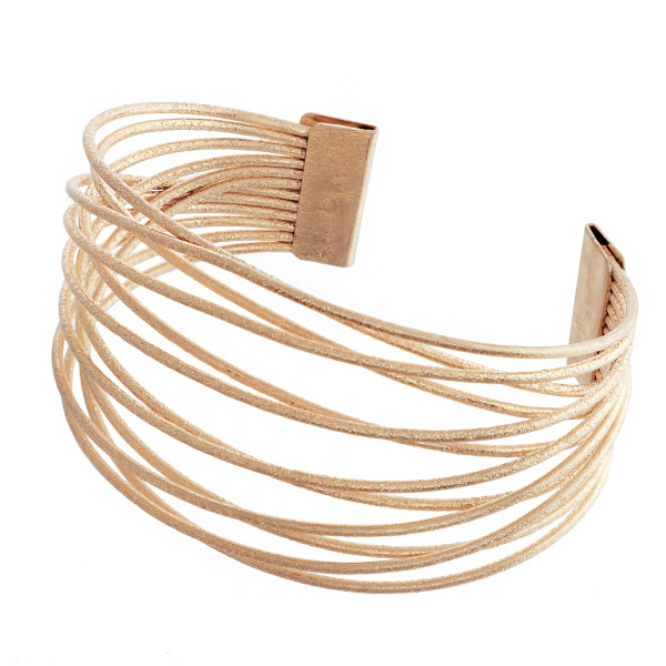 "Metal cuff bracelet. Approximate 3"" in diameter."