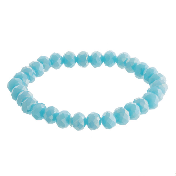 """Dainty, faceted bead stretch bracelet. Approximate 6"""" in length."""