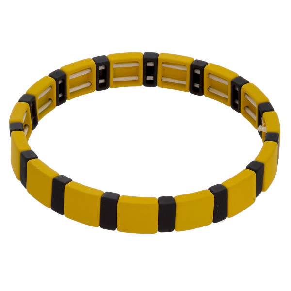 """Metal and acetate bracelet mix. Approximate 7"""" in length."""