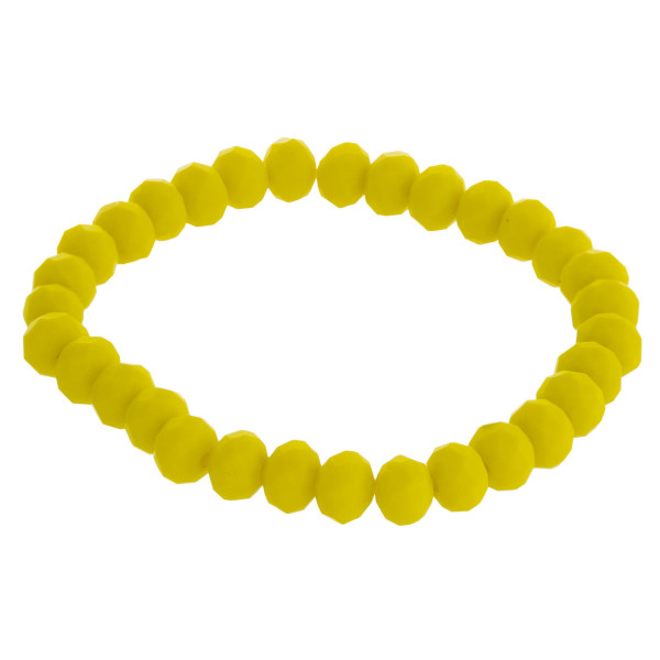 """Matte faceted beaded stretch bracelet.   - Approximately 3"""" in diameter unstretched  - Fits up to a 6"""" wrist"""