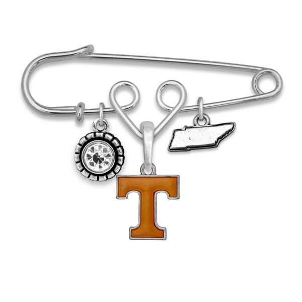 "Officially licensed metal pin with university logo. Approximately 2.5"" in length."