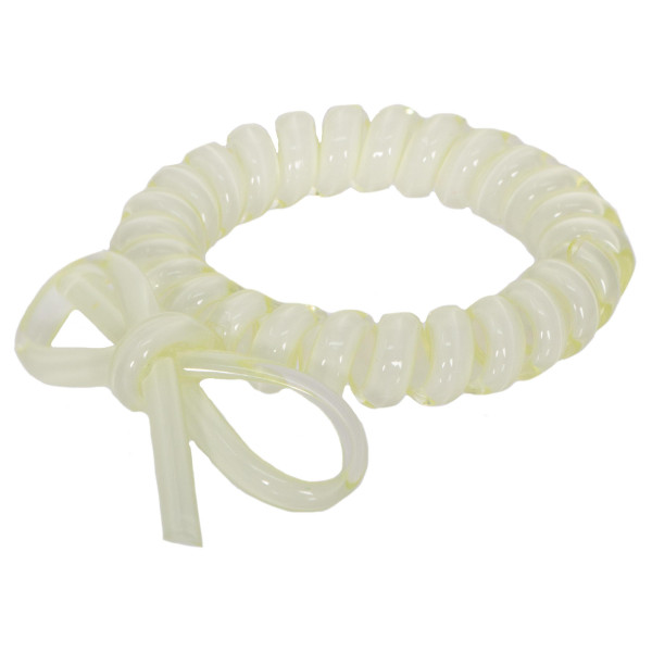 Telephone hair tie with bow detail.