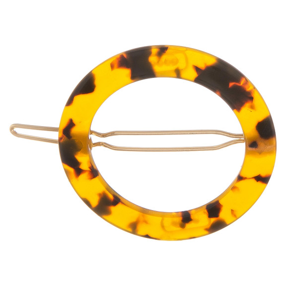 "Hair clip accessory with acetate hoop detail. Approximate 2"" in length."