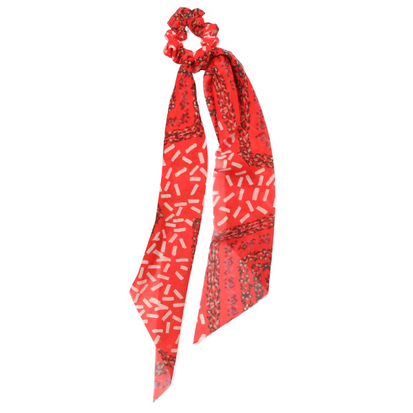 Mixed pattern scarf pony. 100% polyester.