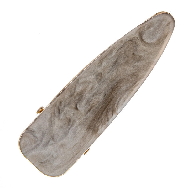 """Large hair clip featuring resin inspired details. Approximately 3"""" in length."""