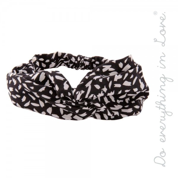 Do everything in Love brand geo print knotted headwrap.  - One size fits most adults - 100% Polyester