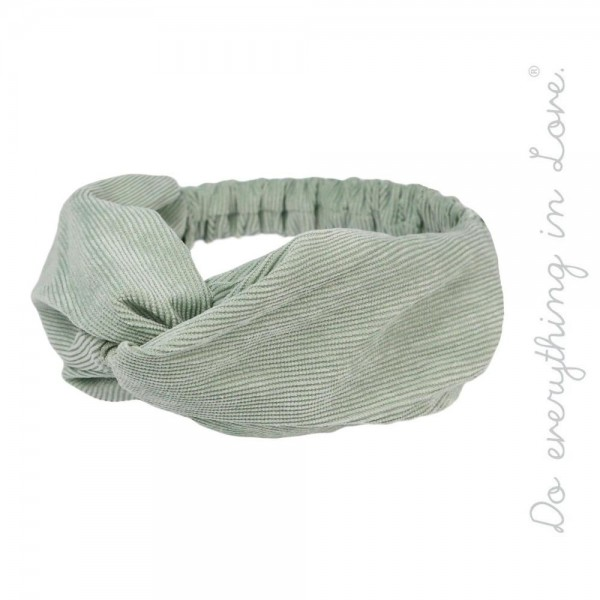 Do everything in Love brand corduroy knotted headwrap.  - One size fits most - 100% Polyester
