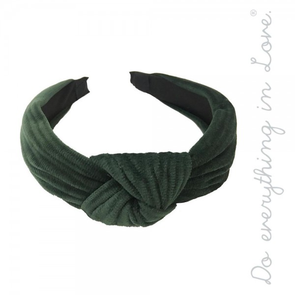 Do everything in Love brand solid color velvet knotted headband.  - One size fits most  - 100% Polyester