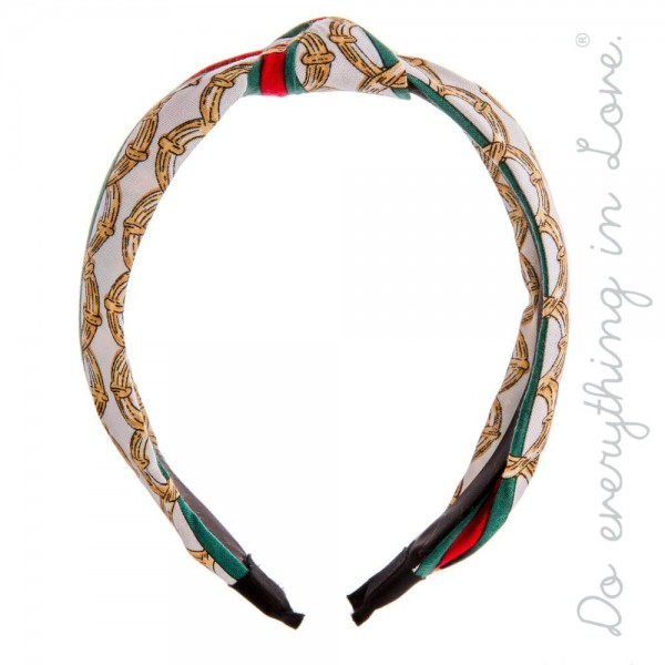 Do everything in Love brand knotted designer print inspired headband.  - One size fits most - 100% Polyester