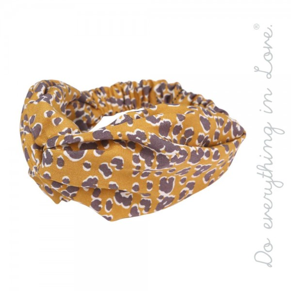 Do everything in Love brand leopard print knotted stretchy headband.  - One size fits most - 100% Polyester