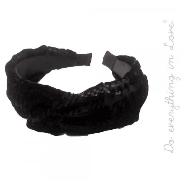 Do everything in Love brand burnout velvet knotted headband.  - One size fits most  - 100% Polyester