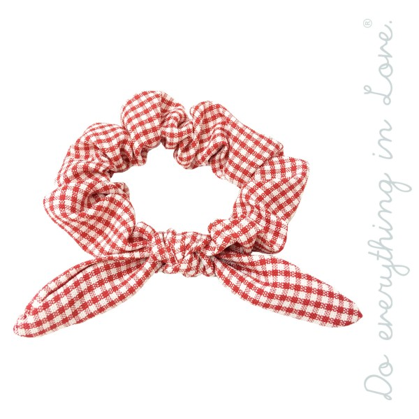 Do everything in Love brand plaid checkered bow scrunchie.  - One size  - 100% Polyester