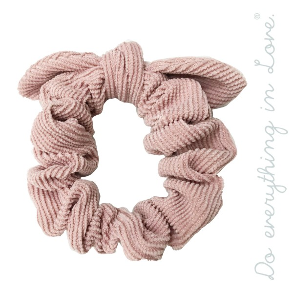Do everything in Love brand solid color corduroy knotted scrunchie.  - One size - 100% Polyester