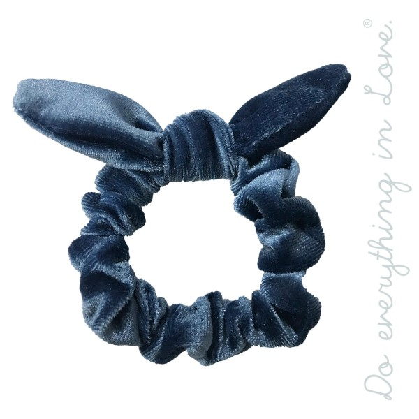 Do everything in Love brand solid color velvet knotted bow scrunchie.  - One size  - 100% Polyester
