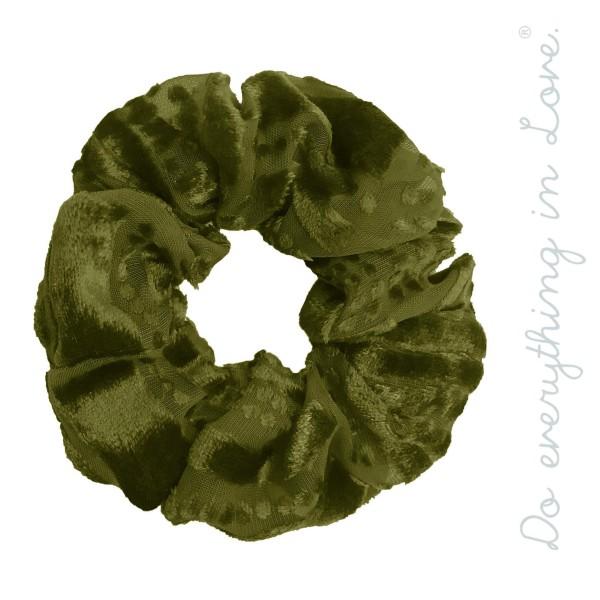 Do everything in Love brand velvet burnout scrunchie.  - One size  - 100% Polyester