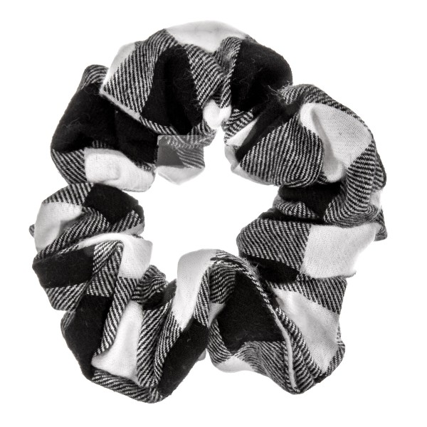 Buffalo check hair scrunchie.  - One size - 100% Polyester