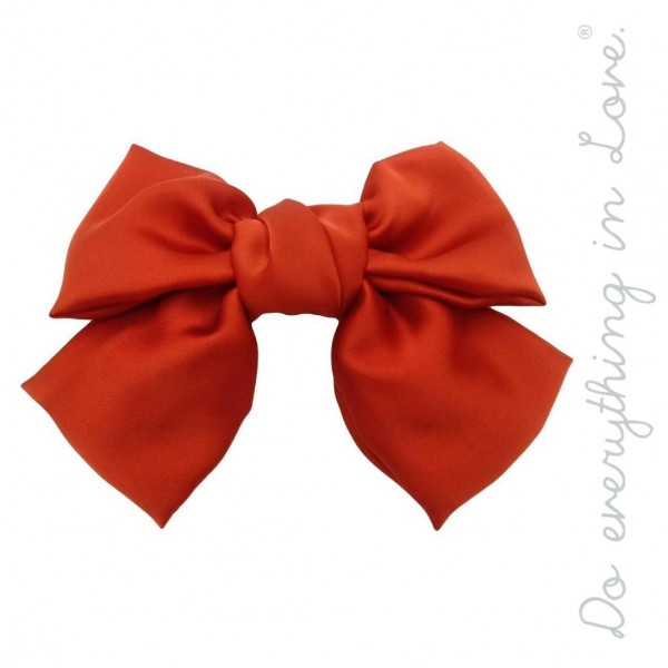"Do everything in Love brand solid silky hair bow barrette.  - One size - Approximately 6"" W x 5"" L - 100% Polyester"