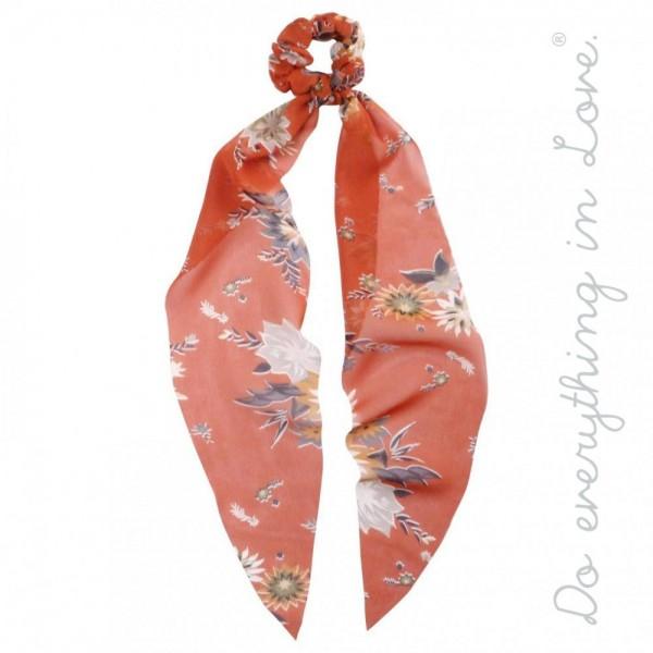 Wholesale do everything Love brand floral vintage floral print hair scarf scrunc