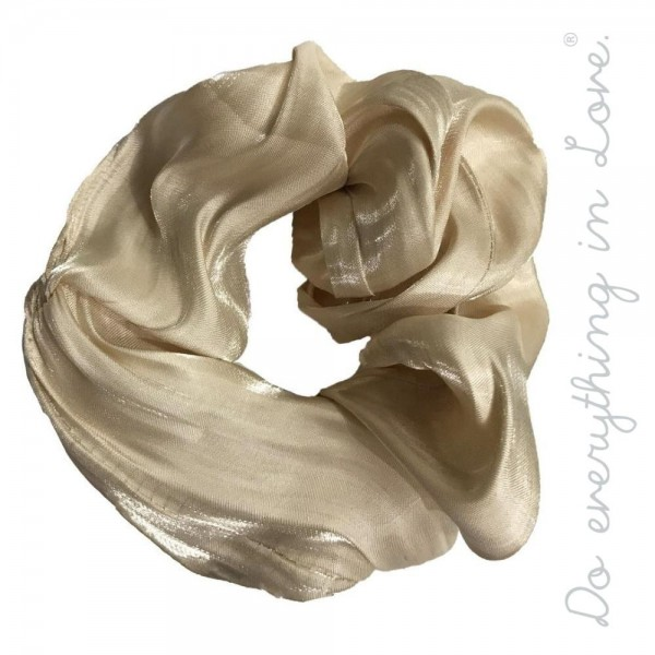 Do everything in Love brand solid shiny metallic hair scrunchie.  - One size  - 100% Polyester