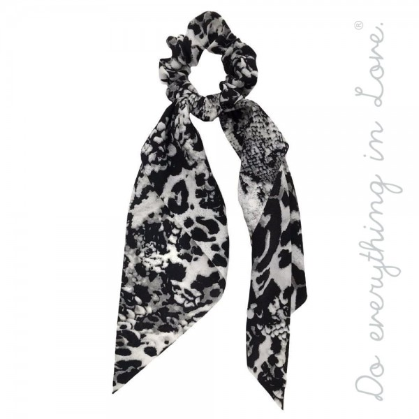 """Do everything in Love brand multi animal print hair scarf scrunchie.  - One size - Approximately 11"""" L - 100% Polyester"""