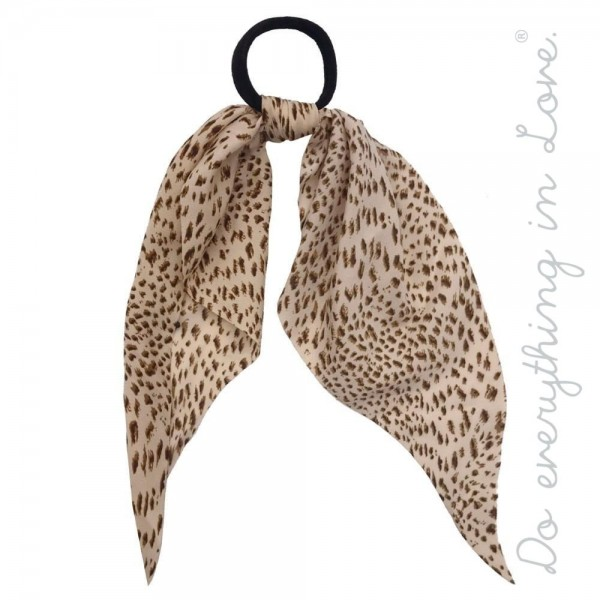 Wholesale do everything Love brand leopard print ponytail scarf One L Polyester