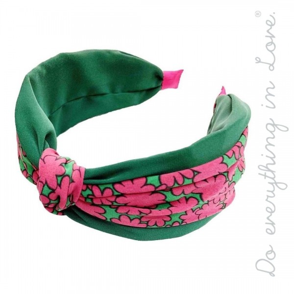 Do everything in Love brand solid and floral print knotted headband.  - One size - 100% Polyester