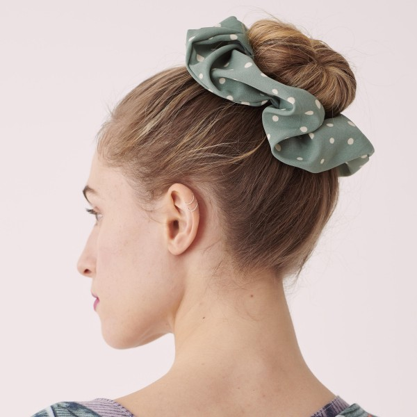 Do everything in Love brand polka dot oversized hair scrunchie.  - One size - 100% Polyester