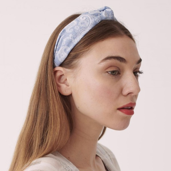 Do everything in Love brand knotted paisley headband.  - One size - 100% Polyester