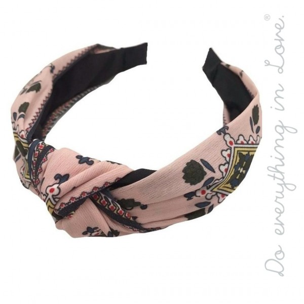 Do everything in Love brand knotted geometric headband.  - One size - 100% Polyester